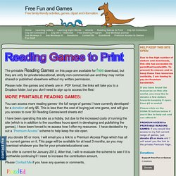 Free Reading Games - Free Fun and Games