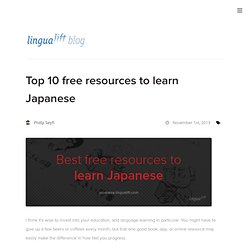Top 10 free resources to learn Japanese