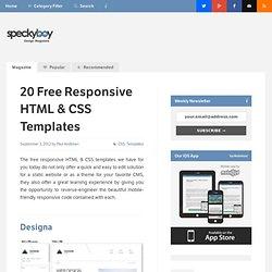 20 Free Responsive HTML & CSS Templates