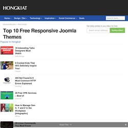 Top 10 Free Responsive Joomla Themes
