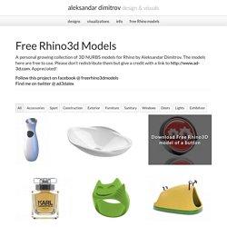 Free Rhino 3D models