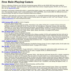 Free Role-Playing Games