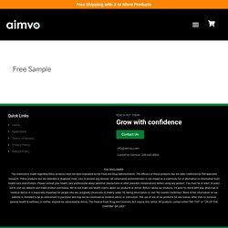 Free Sample - Aimvo CBD