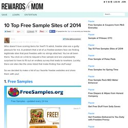 Brandieself added: 10 Top Free Sample Sites of 2014 - Rewards for Mom