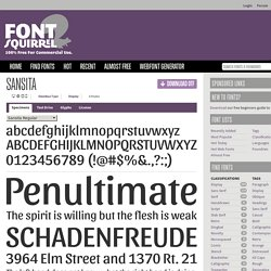 Free Font Sansita by Omnibus Type