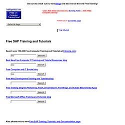 Free SAP Training and Tutorials