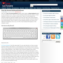 Free On Screen Keyboard Software