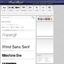 Free Sans serif Fonts - FontRiver