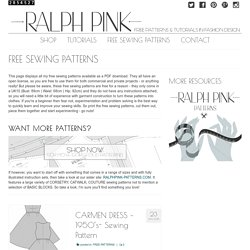 FREE SEWING PATTERNS - RalphPink.com