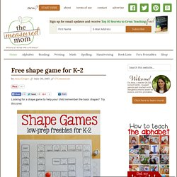 Free shape game for K-2