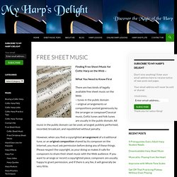 Free Sheet Music for Celtic Harp