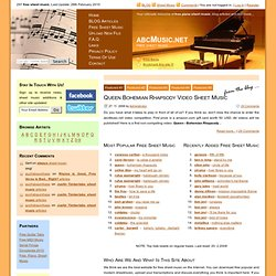 Free Sheet Music, Free Piano Sheet Music, Free Popular Piano Sheet Music