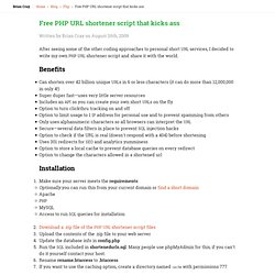 Free PHP URL shortener script that kicks ass