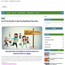 Top 10 Free Job Sites In India You Should Know These Sites