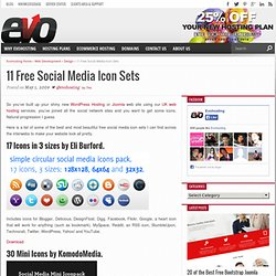 14 Free Social Media Icon Sets – UK Web Hosting – Uk Web Design Blog | Evohosting