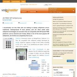 20 FREE SIP Softphones « VoIP Insider