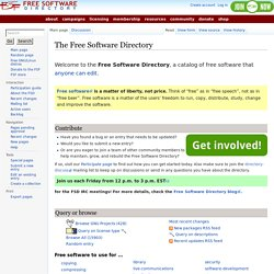 Welcome! - Free Software Directory - Free Software Foundation