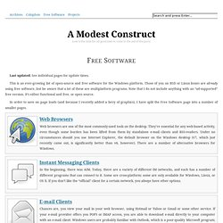 Free Software • A Modest Construct