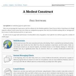 Free Software • A Modest Construct
