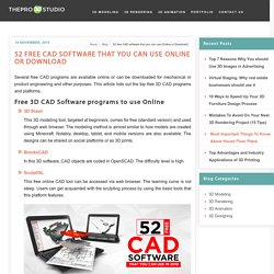 52 free CAD software that you can use (Online or Download)