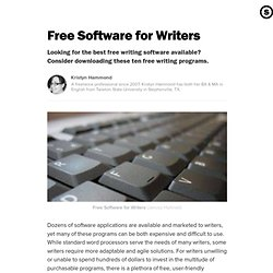 Free Software for Writers
