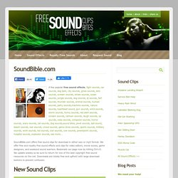 Free Sound Clips | SoundBible.com