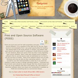 Free and Open Source Software (FOSS)