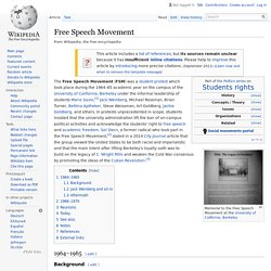 Free Speech Movement - Wikipedia