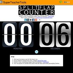 Free Split-Flap Classroom Timer Tool