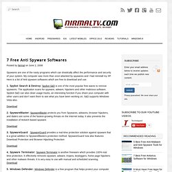 Top 7 Free Anti Spyware and Anti Adware Softwares