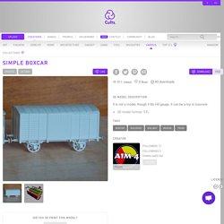 Free STL Simple boxcar