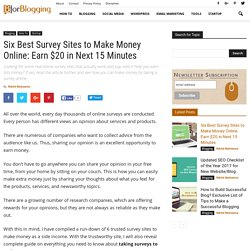 Six Free Survey Sites to Make Money