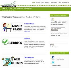 Free Teacher Resources From Teacher Jet