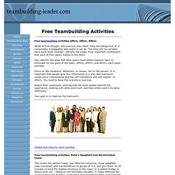Free Teambuilding Activities