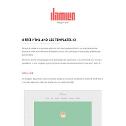 8 free html and css templates #2 damienfaivre.fr