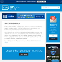 Free Web Templates Resource - Free Templates Online