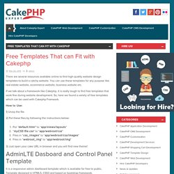 Free Templates That can Fit with Cakephp