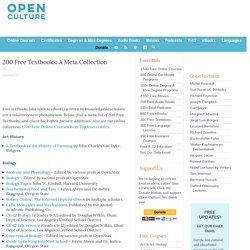 150 Free Textbooks: A Meta Collection