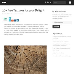 20+ Free Textures for your Delight | Freebies