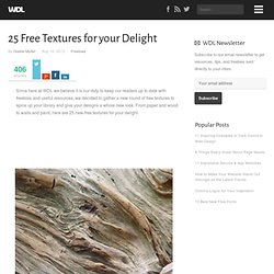25 Free Textures for your Delight
