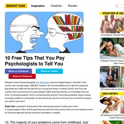 10Free Tips That You Pay Psychologists toTell You