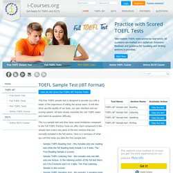 Free TOEFL Sample Test