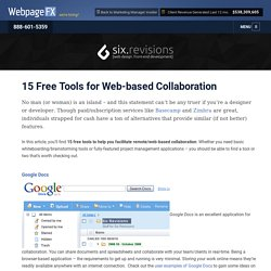 15 Free Tools for Web-based Collaboration