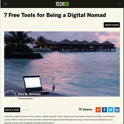 7 Free Tools for Being a Digital Nomad
