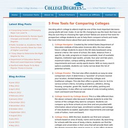 5 Free Tools for Comparing Colleges