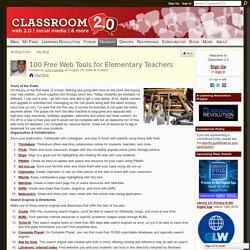 100 Free Web Tools for Elementary Teachers