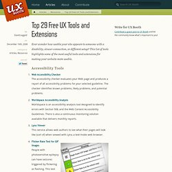 Top 29 Free UX Tools and Extensions
