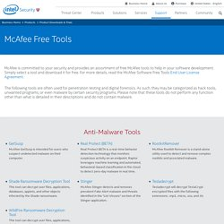Free Tools | McAfee Downloads
