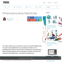 9 Free tools to pimp VideoScribe