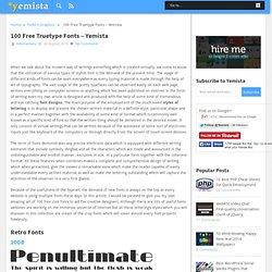 100 Free Truetype Fonts - Yemista